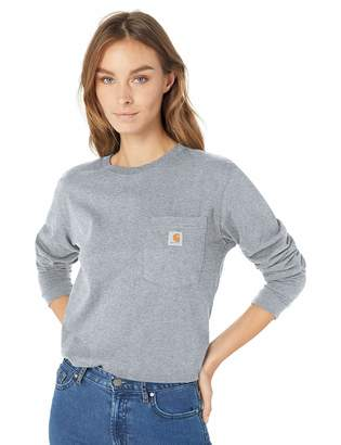 Carhartt Women's Wk126 Workwear Pocket Long Sleeve T Shirt