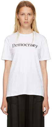 6397 White Democracy T-Shirt