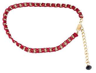 Dolce & Gabbana Leather Chain-Link Belt