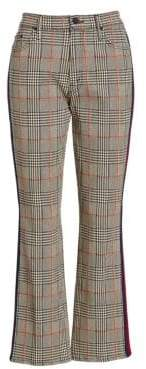 Mother Insider Plaid Ankle Pants