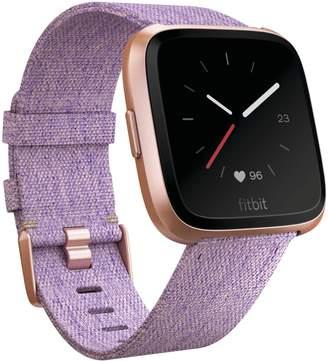 Fitbit Versa Multi-Function Woven Strap Smart Watch