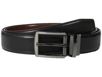 Perry Ellis Portfolio Matte and Hi Shine Buckle Reversible Dress Belt