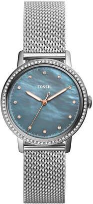 Fossil Women's Neely Stainless Steel Mesh Bracelet Watch 34mm