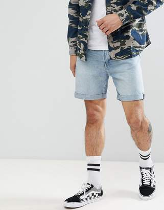 Weekday Vacant Denim Shorts In Light Blue