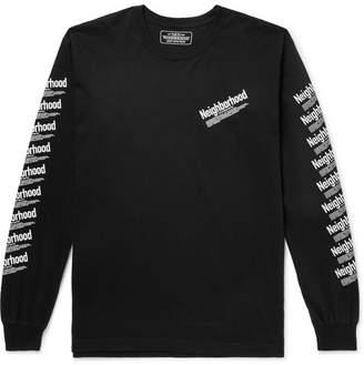 Neighborhood Logo-Print Cotton-Jersey T-Shirt