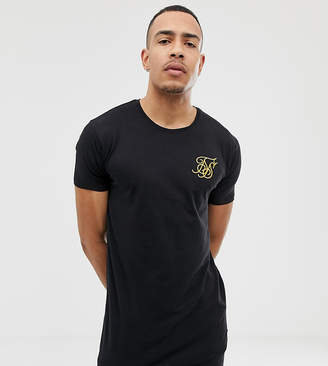 807e82149c9 SikSilk curved hem t-shirt in black exclusive to ASOS