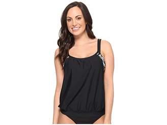 Athena Next by Lush Palm Double Up Tankini Top Women's Swimwear