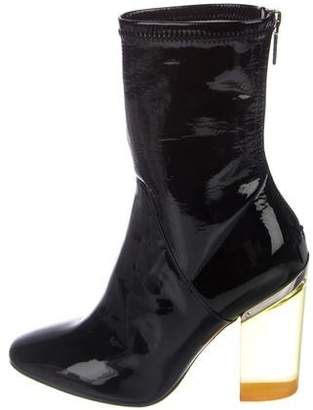 Christian Dior Crystal Patent Leather Boots