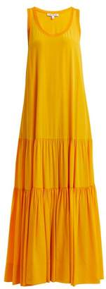Elizabeth and James Hazel Scoop Neck Gathered Silk Dress - Womens - Yellow