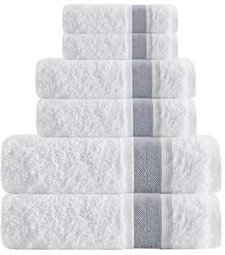 Enchante Home Unique Smooth 6 Piece Turkish Cotton Bath Towel Set
