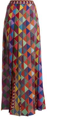 Mary Katrantzou Nyx pleated crepe maxi skirt