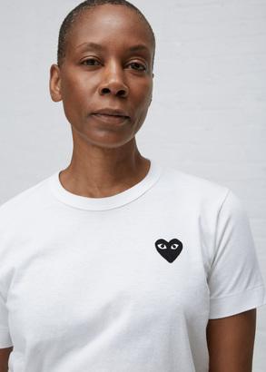 Comme des Garcons PLAY white black heart t-shirt $98 thestylecure.com