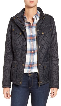 Women's Barbour International Caster Quilted Jacket $249 thestylecure.com