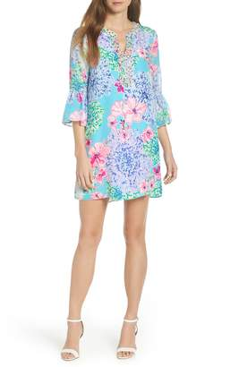 Lilly Pulitzer R) Elenora Floral Embellished Silk Dress