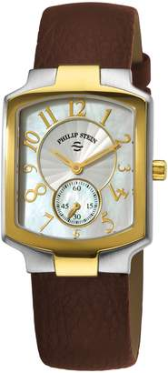 Philip Stein Teslar Women's 21TG-FW-CBR Classic Brown Calfskin Leather Strap Watch