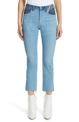 Atelier Jean Hunter High Rise Straight Leg Crop Jeans