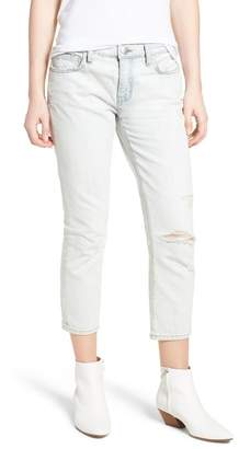 Current/Elliott The Cropped Straight Leg Jeans (Channon Destroy)