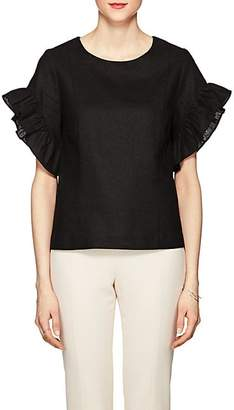 Barneys New York WOMEN'S RUFFLED LINEN