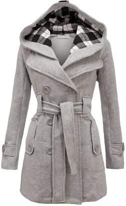 f209b010c76 at Amazon Canada · Noroze Womens Check Hood Plus Size Duffle Coat