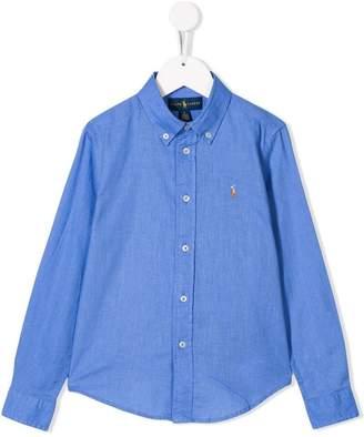 Ralph Lauren Kids logo long-sleeve shirt