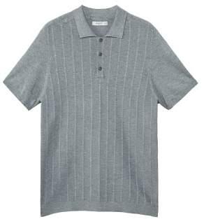 Mango man MANGO MAN Stripe textured polo shirt