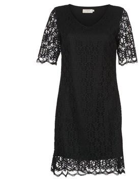 Cream LULU DRESS women's Dress in Black