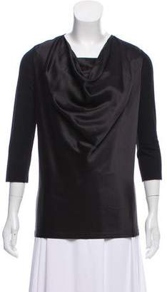 Givenchy Silk Cowl Neck Top