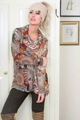 Pure Essence Cowl Neck Pullover