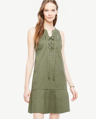 Ann Taylor Sleeveless Lace Up Shift Dress