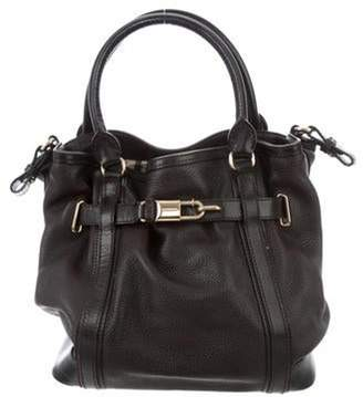 Burberry Leather Belted Tote gold Leather Belted Tote
