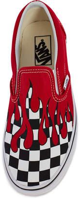 Vans Ua Classic Slip-On Checker Flame Sneaker