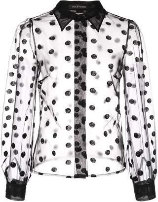 Jill Stuart polka dot sheer blouse