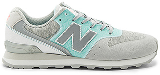New Balance 696 Re Engineered Sneaker in Turquoise $90 thestylecure.com
