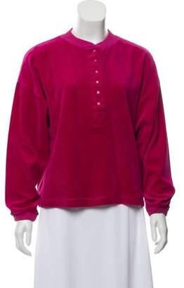 Gloria Vanderbilt Velour Pullover Sweatshirt