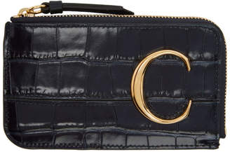 Chloé Navy C Small Purse Card Holder