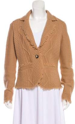 Tory Burch Notched Lapel Wool Jacket