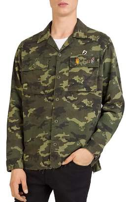 The Kooples Camouflage Shirt Jacket