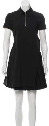A.L.C. Overlay Pleats-Accented Dress