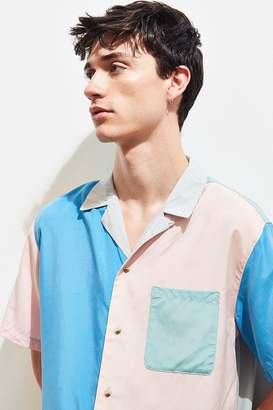 Urban Outfitters Colorblocked Short Sleeve Button-Down Shirt