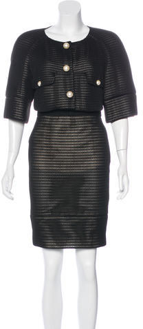 Chanel Chanel Mesh Skirt Suit