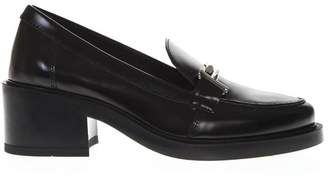Tod's Black Shiny Leather Double T Loafers