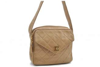 Chanel Beige Leather Handbags