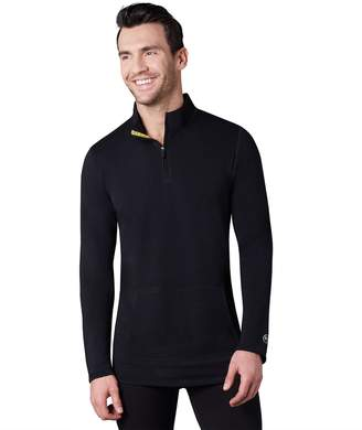 Cuddl Duds Climatesmart By Men's Climatesmart by Comfort Wear Performance Quarter-Zip Pullover