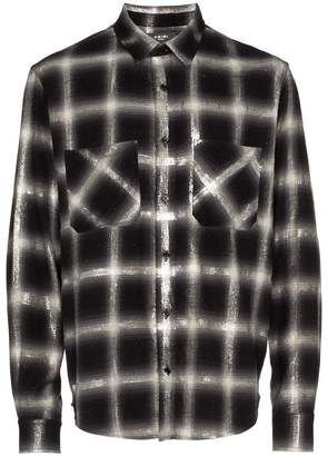 Amiri glitter check cotton shirt