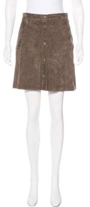 Helmut Lang Suede Mini Skirt w/ Tags