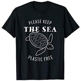 Turtle Please Keep the Sea Plastic Free - T-Shirt