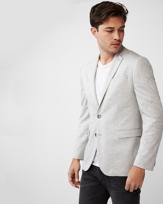 Express Slim Gray Double Knit Blazer