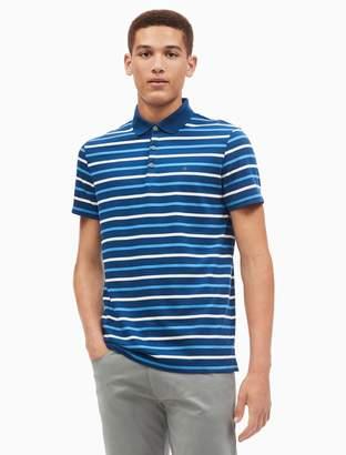 Calvin Klein slim fit liquid cotton auto stripe polo shirt