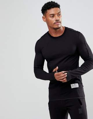 Religion Long Sleeve Muscle T-Shirt With Thumb Hole