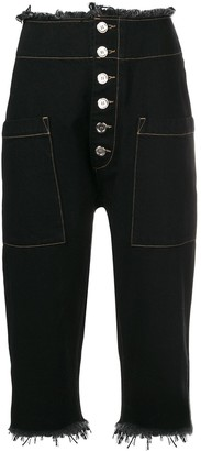 Marques Almeida Marques'Almeida cropped fitted trousers